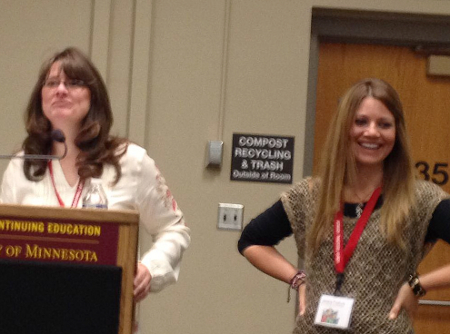 Quinette Cook, Regional Advisor, and Jessica Freeburg, Assistant Regional Advisor, of MN SCBWI