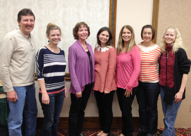Randy Holland, Elise Hylden, Jan Blazanin, Allison Remcheck, me, Alicia Schwab, and Louise Aamodt