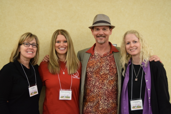 Ann Page, me, Bruce Hale, and Louise Aamodt