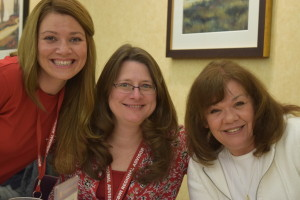 Jessica and Quinette pictured with SCBWI member, Cynthia Weishapple